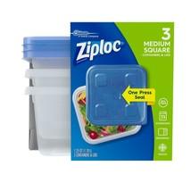2 Cts Ziploc® Medium Square Plastic Container Food Storage - 3 Pc/Ct - $35.00