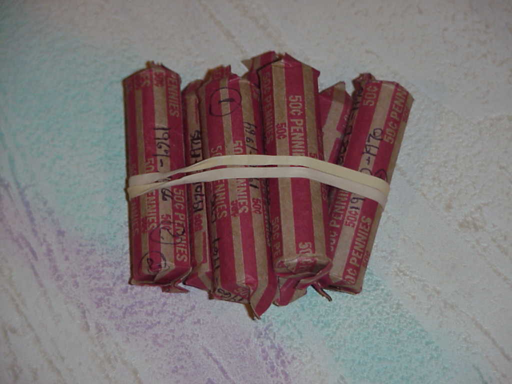 Lincoln Cent Rolls Uncirculated 1980 (25 Rolls)