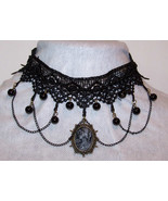 Black Choker Necklace Black Seed Beads, and Rou... - $18.63