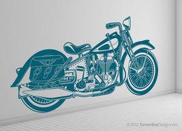 Life Size Vintage Retro Motorcycle Vinyl Wall Art Graphic - $89.95