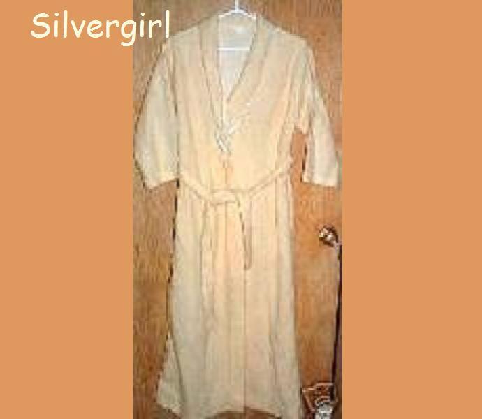 Vintage Yellow Fleece Wrap Housecoat