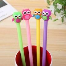 4 Pcs Set Kawaii Candy Color Animal Owl Gel Pens 0.5mm Black Ink Signatu... - $5.69