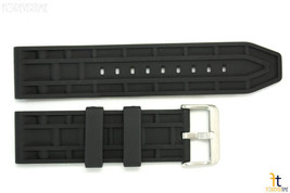 24mm Fits Fossil Waffle Pattern Heavy Rubber Watch BAND Strap - $23.63 CAD