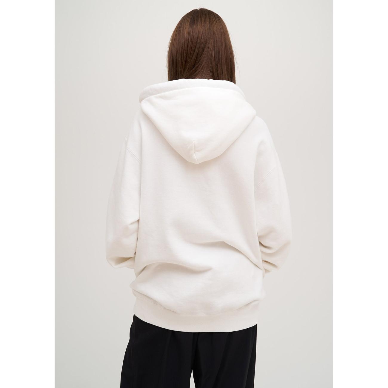 Unisex Ambush White Cotton Multi-cord Logo Hoodie Sweatshirt