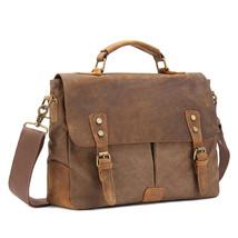 Vintage Canvas fever men bag - new canvas tote official messenger bag me... - $108.16