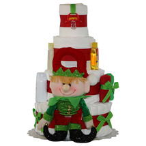 Baby Christmas Celebration Diaper Cake 4 Tiers - $125.00
