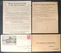 The American Thesherman 1901 Madison WI Cover w/ Flag Cancel, Form, Letter - $12.99