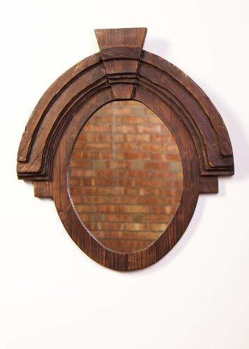 "Urbanest Large Wood Oval Wall Decor Mirror, 26""x23.5"""