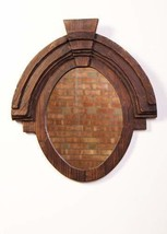 "Urbanest Large Wood Oval Wall Decor Mirror, 26""x23.5"" - $148.49"