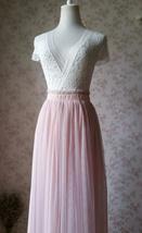 BLUSH High Waist Full Tulle Maxi Skirt Blush Wedding Women Maxi Tulle Skirts NWT image 3
