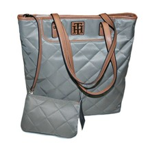 Tommy Hilfiger Women's Tote OS/TU with Change Wallet, Khaki and Ligth Brown - $82.99