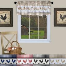"Barnyard Rooster Kitchen Window 14"" Valance Curtain - $12.19"