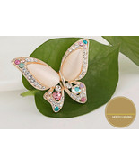 Classic 3 Colors Opal Rhinestone Butterfly Brooches For wedding For Wome... - $15.69