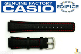 CASIO Edifice EFA-120L-1A1V 17mm Original Black Leather Watch Band w/ 2 ... - $29.95
