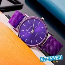 New STEVVEX Geneva Women's Casual Silicone Strap Quartz Watch Top Brand Girls  - $15.44