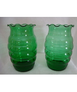 Anchor Hocking green glass bee hive vase.  - $25.00