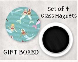 Mermaid Large Glass Gem Magnet Set - GIFT BOXED - Kitchen / Office / Loc... - $7.95