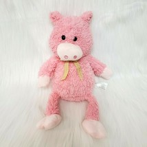 "11"" Animal Adventure Pink Pig Sweet Sprouts Plush Gingham Bow Stuffed To... - $12.99"