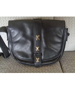 Paloma Picasso Crossbody Bag Black Leather Shoulder Purse - $45.99