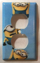 Minions One by One up Light Switch Power Outlet wall Cover Plate Home decor image 2