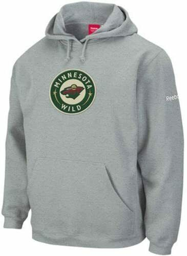 Primary image for Reebok Minnesota Wild Ash Playbook Hoodie Hooded Sweatshirt sz Men's Small