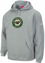 Reebok Minnesota Wild Ash Playbook Hoodie Hooded Sweatshirt sz Men's Small - $16.82