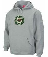 Reebok Minnesota Wild Ash Playbook Hoodie Hooded Sweatshirt sz Men's Small - $16.82