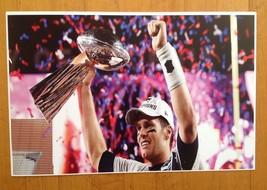 Tom Brady Trophy Poster Super Bowl  Patriots Champion Trophy Poster 17 X 11 - $14.84