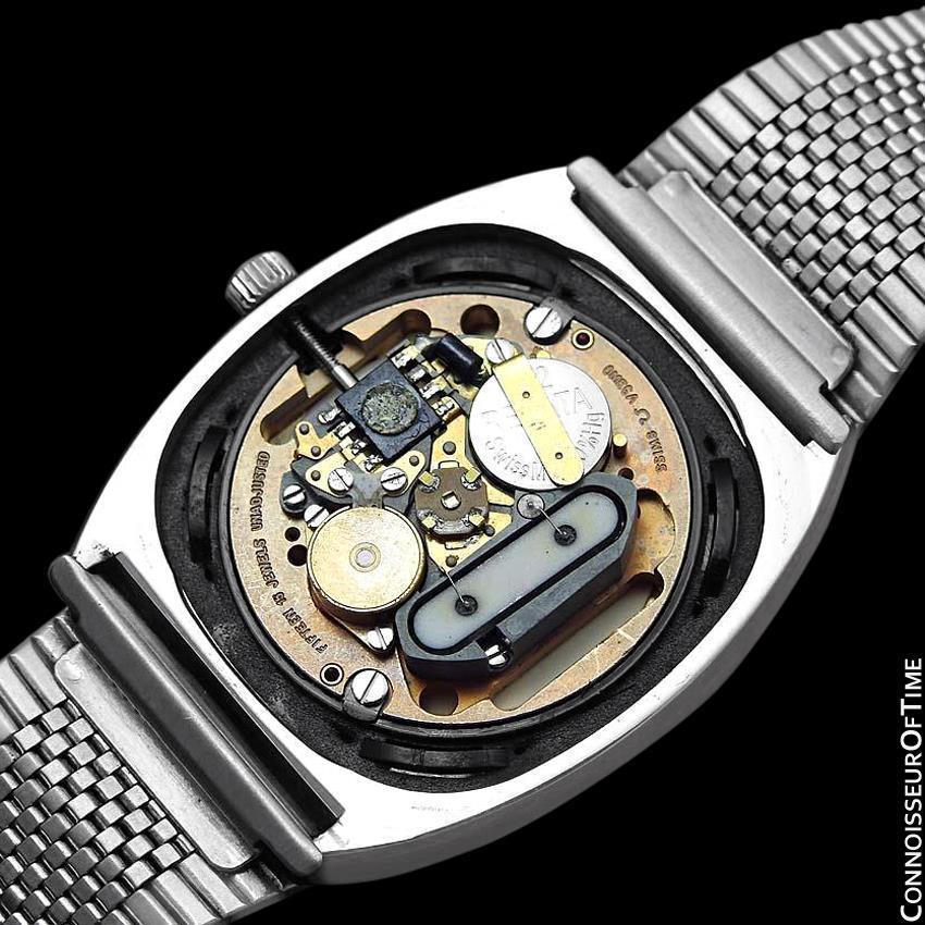 1975 OMEGA DE VILLE Vintage Mens Transitional Cal. 1320 SS Watch - Rare & Mint