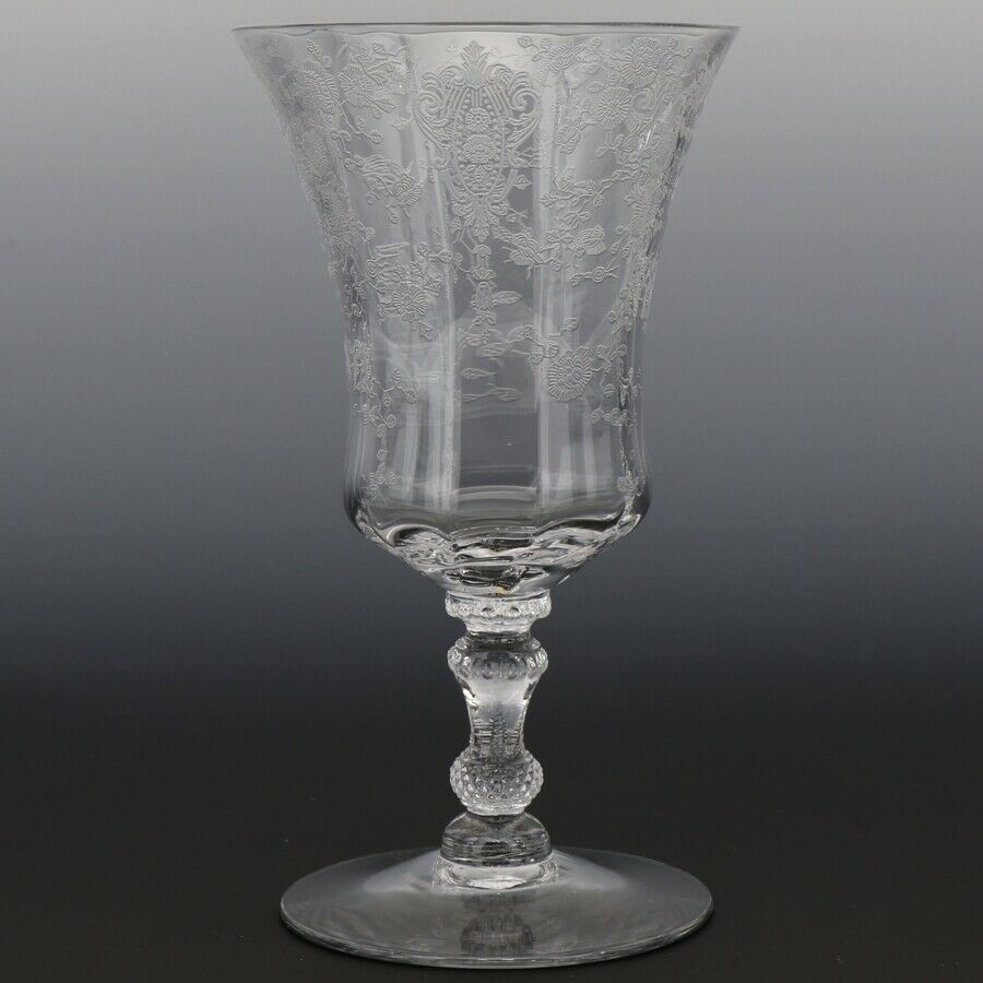 Cambridge Crystal Rose Point Goblet 3500 10 OZ Footed Water