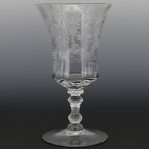 Cambridge Crystal Rose Point Goblet 3500 10 OZ Footed Water image 1