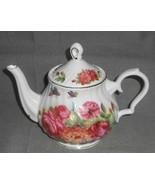 Grace's Teaware SANDRA'S ROSE PATTERN 32 oz Porcelain Teapot NICE!!!! - $31.67