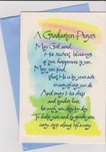 Forget Me Not Graduation Prayer Greeting Card - $4.50