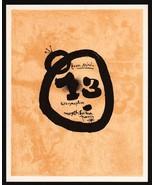 Joan Miró Lithograph 1972 Listed Mourlot 71, Litógrafo, Cubierto,  UNIQU... - $195.00