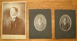 Antique Photos Lot of 3 Code Family Ontario Canada - $6.95
