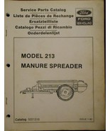 New Holland 213 Manure Spreader Parts Manual - $6.00