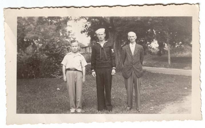 Vintage 1943 Photo WW2 Sailor Uniform Navy WWII Military