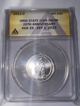 2019  Ohio State  COIN CLUB 20th Anniversary 2013D Quarter Sample - $9.49