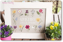 Spring Collection cross stitch chart Madame Chantilly - $12.60