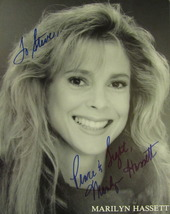 MARILYN HASSETT AUTOGRAPHED 8X10 PROMOTIONAL PHOTO TO STEVE TV STAR w/COA  - $24.00
