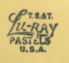 Luray Lu-Ray Pastels Yellow Saucer Taylor Smith TS&T 1049 4501  image 2