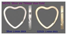 40 HEART Shape KEY RINGS ~ 32mm Split Ring ~ 20 SILVER + 20 GOLD ~Sturdy... - $17.04