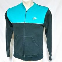 VTG Nike Track Jacket 50/50 Grey Tag 80s Running Coat Jordan Colorblock ... - $39.99
