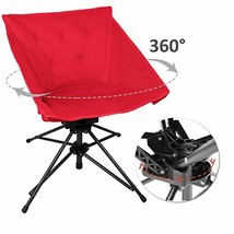 Zenree Portable Sports Lawn Swivel Chairs - Comfortable Folding Camping ... - $56.12