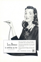 1946 Bell Telephone Long Distance Calls operator print ad - $10.00