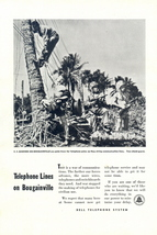 1944 Bell Telephone WWII US Marine in Bougainville print ad - $10.00