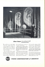 1948 RCA Chamber Of Silence Proving Ground Ears print ad - $10.00