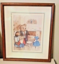 """Vintage Home Interiors Teddy Bears and Goldilocks Picture 12 x 15"""" - $27.72"""