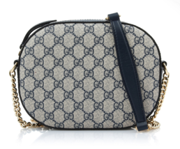 GUCCI Women's GG Supreme Mini Chain Shoulder Bag 409535 KHNKG 4075 Authe... - $1,475.10