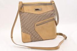 Christian Dior Trotter Canvas Shoulder Bag Beige Auth ar1058 - $210.00